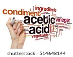 Small photo of Acetic acid word cloud concept