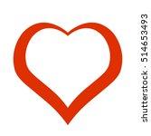 red heart. icon. vector design | Shutterstock .eps vector #514653493