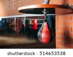 black and red punching bag.  | Shutterstock . vector #514653538