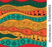 african hand drawn ethno...   Shutterstock .eps vector #514654003