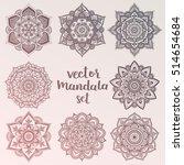 mandala. set of vector circle... | Shutterstock .eps vector #514654684