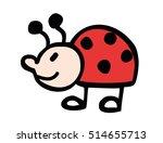 funny ladybug   Shutterstock .eps vector #514655713