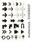 different arrows vector set.... | Shutterstock .eps vector #514658329