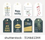 set of hand draw christmas and... | Shutterstock .eps vector #514661344