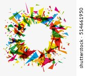 abstract background explosion.... | Shutterstock .eps vector #514661950