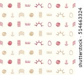 seamless pattern with symbols... | Shutterstock .eps vector #514663324