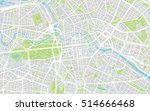 urban city map of berlin ... | Shutterstock .eps vector #514666468