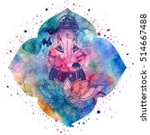 ganesha  or ganapati  indian... | Shutterstock . vector #514667488