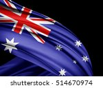 australia  flag of silk with... | Shutterstock . vector #514670974