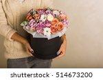 Woman Holding A Gorgeous Bouquet