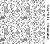 chemical test tubes. seamless... | Shutterstock .eps vector #514675048