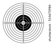 blank target sport for shooting ... | Shutterstock .eps vector #514675984