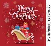 merry christmas greeting card... | Shutterstock .eps vector #514678780