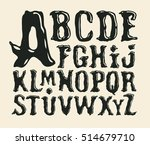 hand drawing type font set.... | Shutterstock .eps vector #514679710
