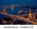bhumibol bridge. this photo was ... | Shutterstock . vector #514681129