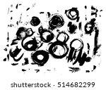 ink splatter texture. vector... | Shutterstock .eps vector #514682299