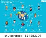 business brainstorming for... | Shutterstock .eps vector #514683109