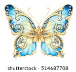 Stock photo small blue butterfly 514687708