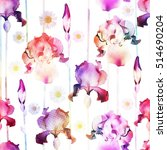Floral Seamless Pattern. Vecto...