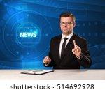modern televison presenter... | Shutterstock . vector #514692928