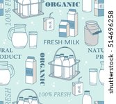 dairy produce  hand drawn icon...