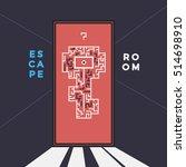 escape room. game quest. | Shutterstock .eps vector #514698910