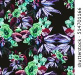 seamless floral pattern with... | Shutterstock . vector #514701166