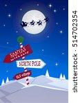 winter christmas new year... | Shutterstock .eps vector #514702354