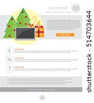 happy new year holiday greeting ... | Shutterstock .eps vector #514703644