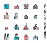 building icon set.line vector. | Shutterstock .eps vector #514706290