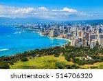 Skyline Of Honolulu  Hawaii An...
