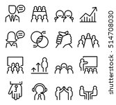 business consulting icon set in ... | Shutterstock .eps vector #514708030