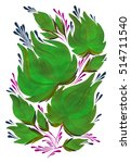 stylized decorative flowers | Shutterstock . vector #514711540
