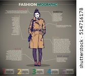 fashion infographic with model... | Shutterstock .eps vector #514716178