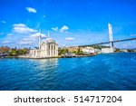 ortakoy mosque and bosphorus... | Shutterstock . vector #514717204