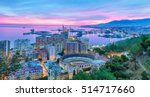 sunset in malaga   aerial view  ... | Shutterstock . vector #514717660