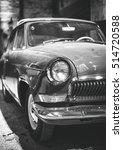 part of old retro car. black... | Shutterstock . vector #514720588