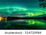 Aurora Show At Finnish Lake