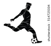 football  soccer  player... | Shutterstock .eps vector #514725334