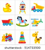 toys kids. set of vector icons... | Shutterstock .eps vector #514733500