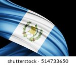 guatemala  flag of silk with... | Shutterstock . vector #514733650
