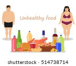vector illustration cartoon fat ... | Shutterstock .eps vector #514738714