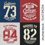 college athletics typography... | Shutterstock .eps vector #514739254
