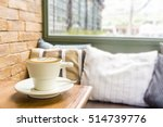 hot coffee latte cup in vintage ... | Shutterstock . vector #514739776