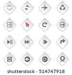 arrow flat web icons for user... | Shutterstock .eps vector #514747918