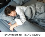 sleeping  women  bed. | Shutterstock . vector #514748299