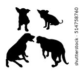 puppy   dogs silhouette set  ... | Shutterstock .eps vector #514758760