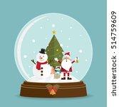 Christmas Tree Santa Claus In...