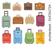 travel luggage and set of... | Shutterstock . vector #514761724