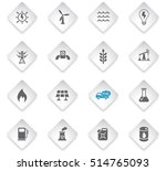 fuel and power flat web icons... | Shutterstock .eps vector #514765093